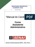 Manual Do Aluno ADC SENAI EVT 2011 Curso Assist Admin Cajati