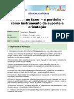 do saber ao fazer - o portfolio como instrumento de suporte e orientação