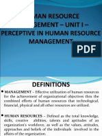 HRM PPT - UNIT I