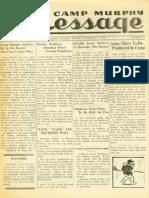 Camp Murphy Message, December 17, 1943
