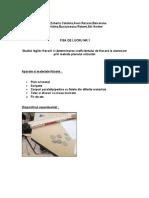 Determinarea coeficientului de frecare la alunecare prin metoda planului orizontal