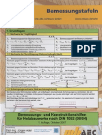 Tablice za dimenzioniranje drvnih konstrukcija (njem) - Bemessungstafel Holzbau