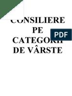 2 Consiliere Pe Categorii de Varsta Suport de Curs