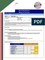 Brand Development  (MoF)