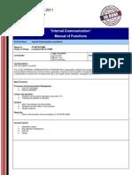 Internal Comunication  (MoF)