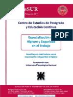Especialización en Seguridad e Higiene 2011