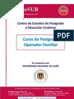 """Postgrado """"Operador Familiar"""""""