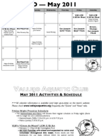 VJO's May 2011 Calendar