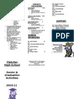 Brochure for Graduation Activities-2010-11