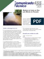 Medição da vazão em rios pelo método flutuador