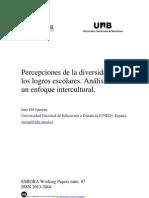 Percepciones de la diversidad y de los logros escolares. Análisis desde un enfoque intercultural