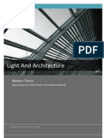 Light and Architecture-Masters Thesis