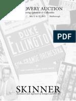 Discovery featuring Duke Ellington   Memorabilia | Skinner Auction 2546M
