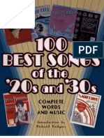 100 Best Songs of the 20s and 30s Noty