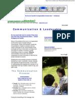 Communication & Leadership