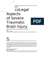 Medico Legal Aspects of Severe Traumatic Brain Injury