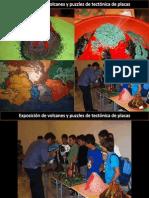 Exposición de volcanes y puzzles sobre tectónica de placas