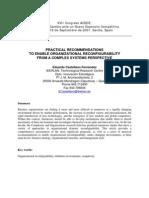 Organizational Renewal & CAS