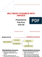 Multibody Dynamics With Abaqus