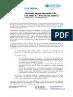 2011 -C p -Pronunciamiento Sobre Fallo Palacio de Justicia