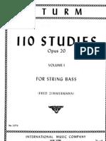 Sturm - 110 Studies for Contrabass Vol.I (1-55)