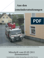 Eslarner Gemeinderatssitzung v. 03.05.2011
