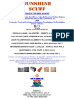 SUNSHINE - SCUFF - Hidrolaca Fichas Técnicas en PDF