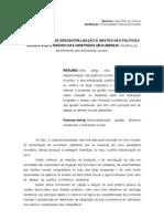 PROCESSO DE DESCENTRALIZAÇÃO E GESTÃO DAS POLÍTICAS SOCIAIS