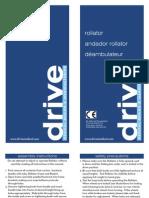 D-Lite Aluminum Rollator owner's manual