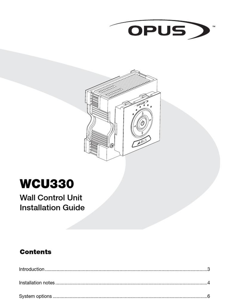 Opus Wcu330 Installation Guide 1 Electrical Connector Loudspeaker Abus Wiring Diagram