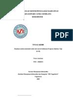 Perancangan Sistem Penggajian Karyawan II