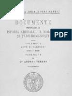 Veress, Andrei - Documente privitoare la istoria Ardealului, Moldovei si Tarii-Romanesti. Volumul 1- Acte si scrisori (1527-1572)