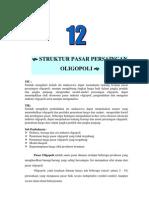 Modul 12 Struktur Pasar Persaingan Oligopoli