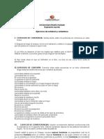 Guía de ejercicios de cohesión y coherencia