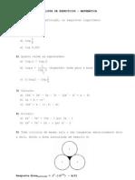 Lista Exercicio Matematica