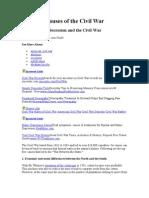 5 Top Causes Civil War English
