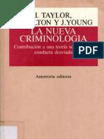 La Nueva Criminologia - I. Taylor P. Walton J. Young