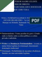 Aula- Patrimonialismo e Est Brasileiro