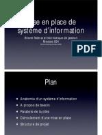 Mise en place de système d'information