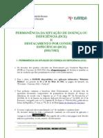 Nota informativa - Permanência DCE +D novo DCE_ 2011.2012; 2011.mai.03