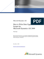 How to Write Data Upgrade Scripts for Microsoft Dynamics AX 2009