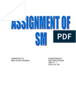 Assignment of Sm