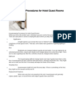 Housekeeping Procedures for Hotel Guest Rooms