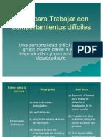 1.3.7 Ideas para Trabajar con comportamientos difíciles Ernesto Burgos