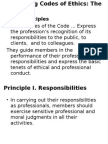 Codes of Ethics Principles