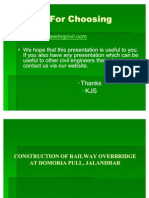 CEP-Construction of Railway Over Bridge by Ishan Kaushal