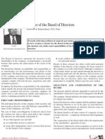 Charter of the Board of Directors by Professor R Balakrishnan 5