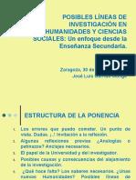 Posibles líneas de investigación en Humanidades y Ciencias Sociales