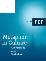 Metaphor in Culture by Kovecses