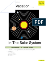 Solar System Vacation LESSON PLAN GR3